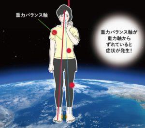 重力バランス軸の画像
